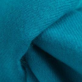 Petroleums blåt twill vævet pashmina tørklæde