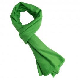 Græsgrønt twill vævet pashmina tørklæde