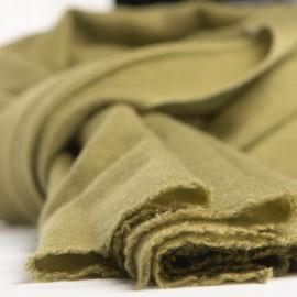Olivengrønt twill vævet cashmere tørklæde