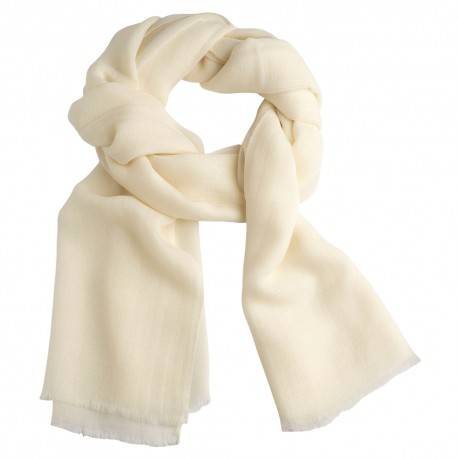 Hvidt pashmina tørklæde i diamant mønster