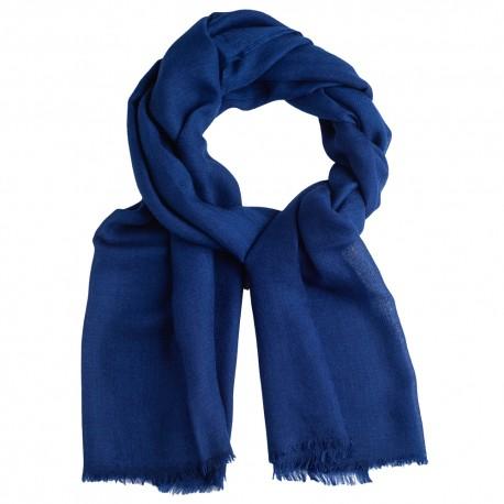 Mørkeblåt pashmina sjal i diamant mønster