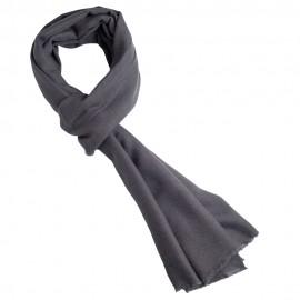 Mørkegråt twill vævet pashmina sjal