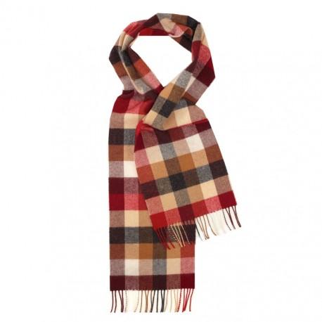 Ternet halstørklæde med tern i jordfarver