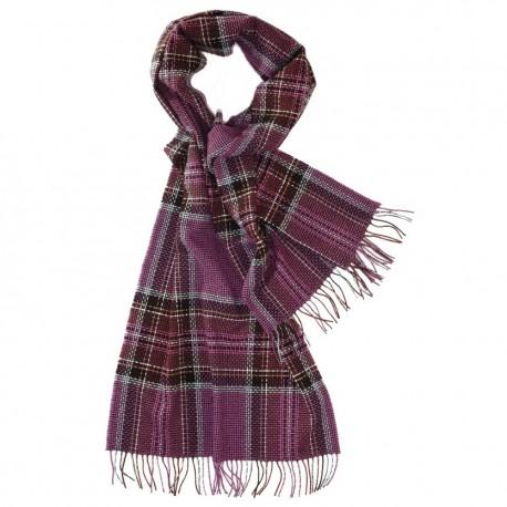 Stort violet skotskternet halstørklæde