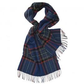 Stort blåt skotskternet halstørklæde