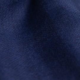 Stribet cashmere tørklæde i indigo og navy
