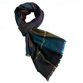 Uld/cashmere tørklæde i mørke tern
