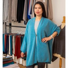 Turkis kimono i lækker merino/cashmere strik