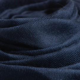 Stort navy cashmere sjal 200 x 140 cm