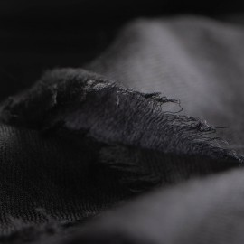 Stort sort cashmere sjal 200 x 140 cm