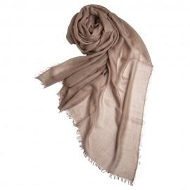 Stort gråbrunt cashmere sjal 200 x 140 cm