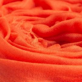Stort orange cashmere sjal 200 x 140 cm