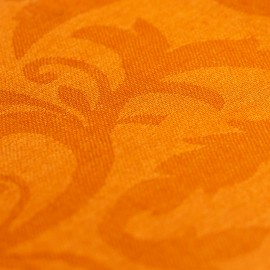 Orange jacquardvævet cashmere sjal