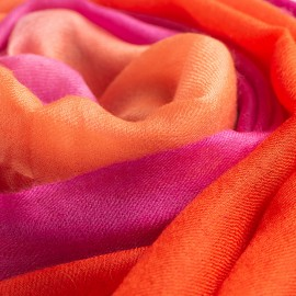 Dip-dye sjal i fuchsia/orange