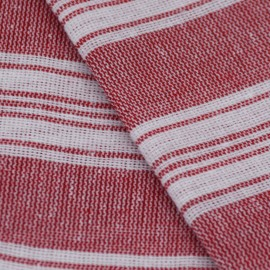 Rosa/hvidt stribet hammam håndklæde