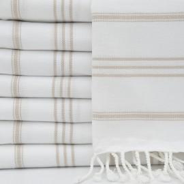 Hvidt hamman håndklæde