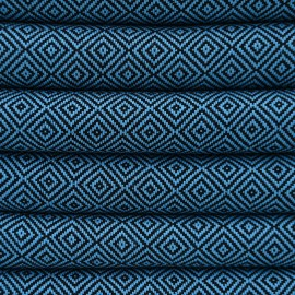 Mørkeblåt hammam håndklæde i diamantmønster