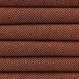 Orange hammam håndklæde i diamantmønster