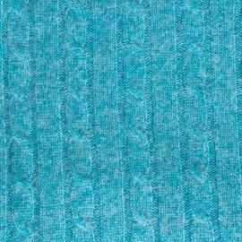 Turkis kabelstrikket tæppe i merino og cashmere