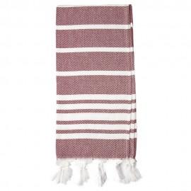 Bordeauxrødt hamman håndklæde