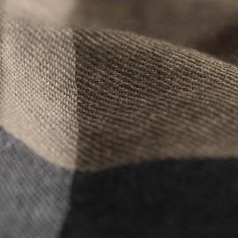 Ternet cashmere tørklæde i grå/sort/beige