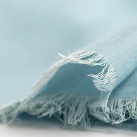 Lyseblåt pashminasjal i cashmere og silke