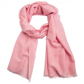 Lys rosa pashminasjal i cashmere og silke