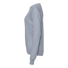 Lyseblå bluse i silke/cashmere blanding