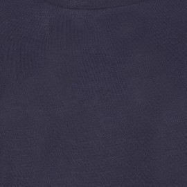 Marineblå bluse i silke/cashmere blanding