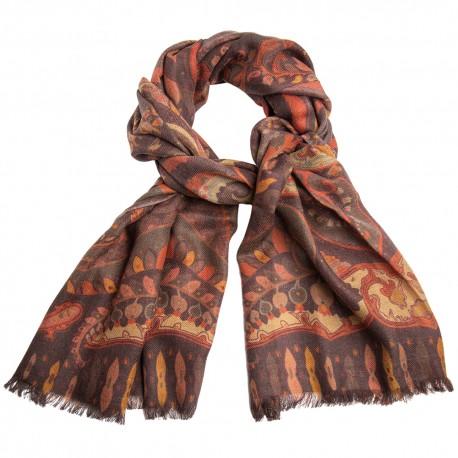 Paisley tørklæde i jordfarver