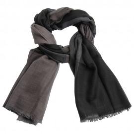 Storternet sjal i sort og grå