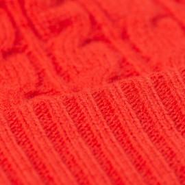 Orangerød hue i merino/cashmere