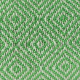 Grønt/hvidt sengetæppe i bomuld