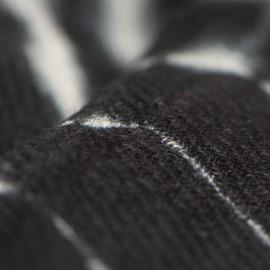 Sort/hvidt batikfarvet sjal