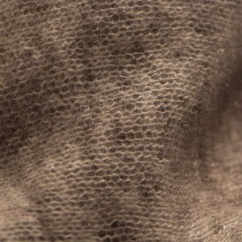 Brunt kvadratisk tørklæde med frynser