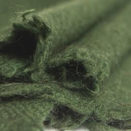 Armygrønt yak tørklæde