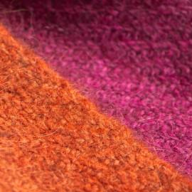 Yak halstørklæde i natur/fuchsia/orange
