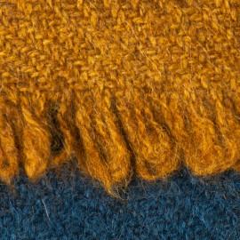 Yak halstørklæde i natur/navy/gylden