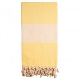 Gult/beige badehåndklæde