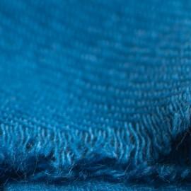 Stålblåt twill vævet pashmina tørklæde
