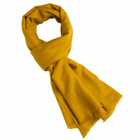 Karrygult cashmere tørklæde