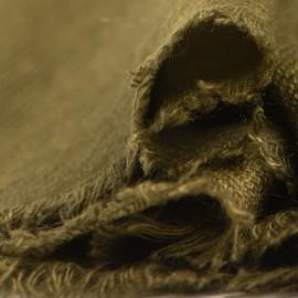 Cashmere tørklæde i mørk olivengrøn