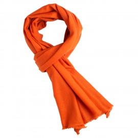 Rust orange cashmere tørklæde