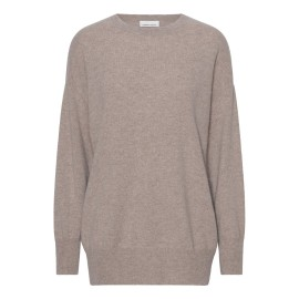 Beige oversize cashmere sweater