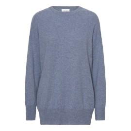 Dueblå oversize cashmere sweater