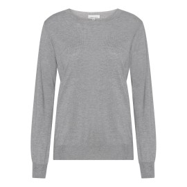 Lysegrå bluse i silke/cashmere blanding
