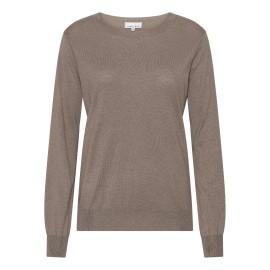 Taupegrå bluse i silke/cashmere blanding