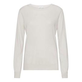 Råhvid bluse i silke/cashmere blanding