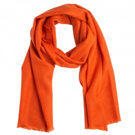 Lille cashmere tørklæde i rust orange