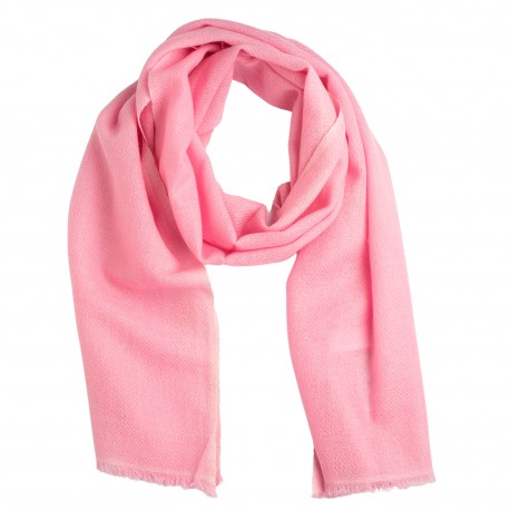 Lille cashmere tørklæde i lys rosa